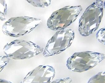 Clearance Sale 4pcs 6010 Briolette Pendant Crystal Moonlight 11x5.5mm Genuine SWAROVSKI ELEMENTS