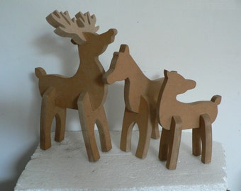Set of Three Reindeer