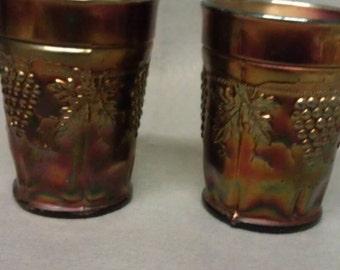 Northwood Carnival Glass Tumblers