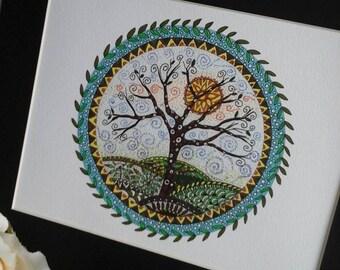 Tree of life art print,tree of life painting,tree illustration,tree art print,pagan art,tree of life,spiritual art,tree picture,tree art,art