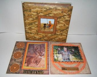 Hunting Scrapbook Album - Dad Scrapbook Album - Father Gift idea - Hunting photo album - hunter gift - Premade hunting Scrapbook Album -