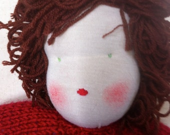 "Waldorf Doll 13"" Soft Red Wool"