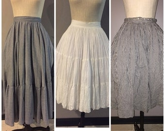 Lot of 3 vintage 1950's full skirts size XS/S