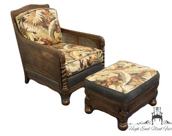 STANFORD Barley Twist and Cane Club Chair & Ottoman