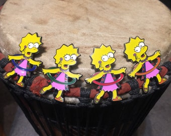 Lisa hula hooping hat pin set