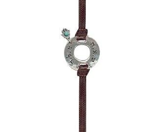 Kabbalah leather bracelet - Judaica