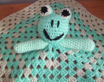 Crochet Frog blanket Toy