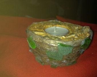 cement candle sticks ONEIRO