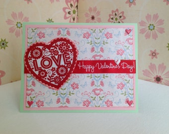 Handmade Valentine's day card, Love card, Cards with hearts