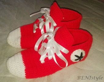 Converse Slippers, Women Converse Slippers, Women House Slippers, Home Shoes, Adult Size, Red Converse Slippers, Red Shoes