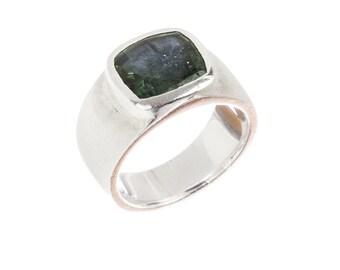 Handmade Green Tourmaline Ring