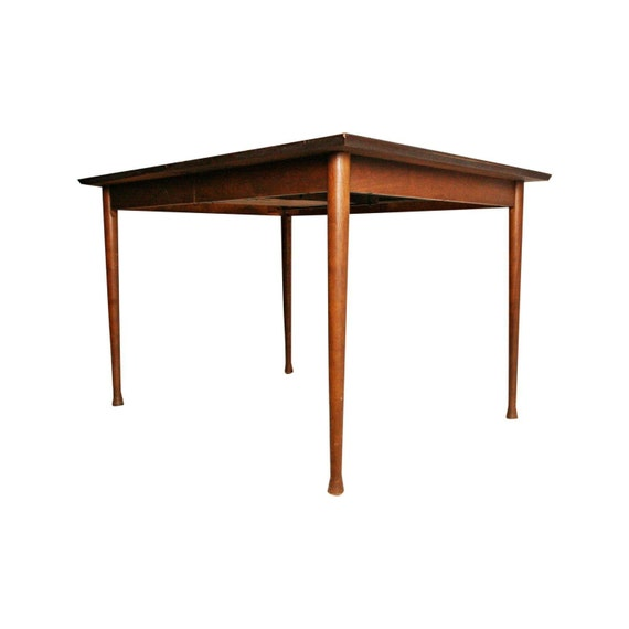 Danish Modern Dining Table With Hidden Leaf By