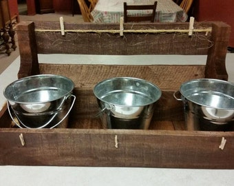 Candy Caddy - Reclaimed Wood
