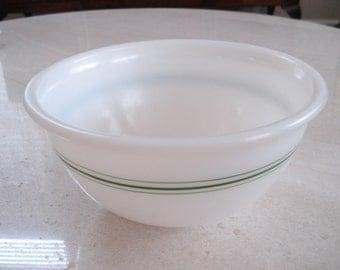 "Vintage Hazel Atlas 8"" Green Stripe Mixing Bowl"