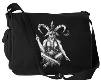 Baphomet Canvas Laptop Bag Messenger Bag