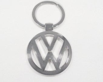 VolksWagen VW Keychain Key Chain Stainless Steel Ring Chrome Silver