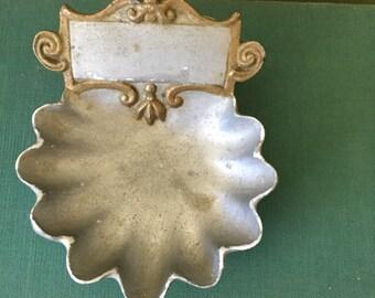 Old Vintage Shabby Chic Victorian French finger bowl / Salt Cellar