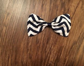 Chevron hair bow/bow tie/chevron/baby/kids