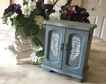Painted jewelry box Etsy