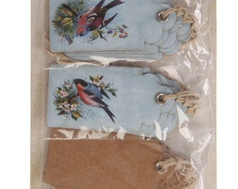 Blue Luggage Tags With Bird Design, Bird Luggage Tags, Luggage Tags, Luggage Labels, Gift Wrapping, Craft Supplies, Wedding Decorations