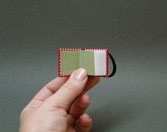 Hand-bound miniature sketchbook
