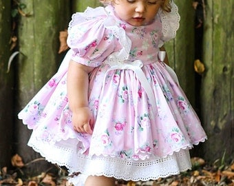 Beautiful Traditional Vintage Style Hand Made Dress Sizes newborn up to 5 years