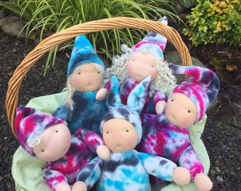 """6-7"""" Soft Organic Cotton Velour Gnome Boy. Waldorf doll. Cuddle doll. Cloth doll LRS16001MR"""