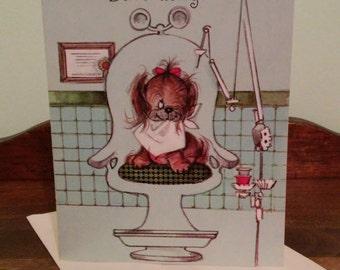 Vintage Birthday Card - Puppy