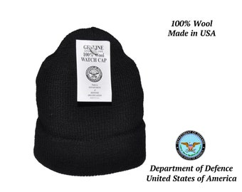 Quality Beanie!! United States Military Issue Watch Cap 100% wool made in USA