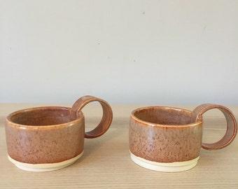 Ceramic espresso cups (stoneware)