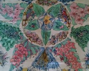 Vintage Hermes Silk Pythagore Scarf Made in France