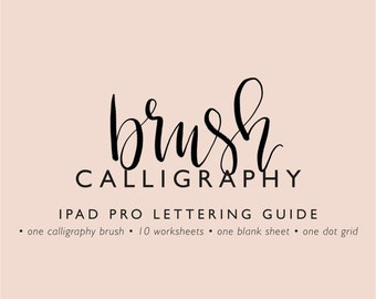 IPad Pro lettering guide brush calligraphy