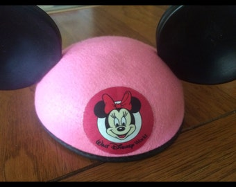 Vintage Minnie Mouse Pink Ears Cap
