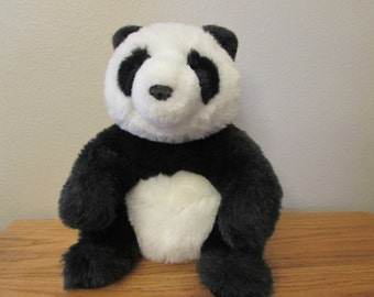 "Gund Vintage Collectors Classics Panda Plush Sitting Stuffed Animal 1985 16"""