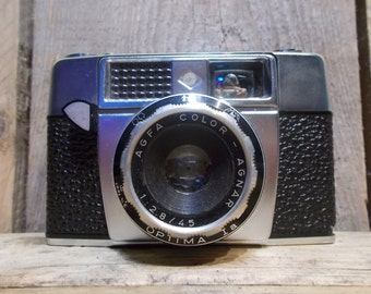 Agfa vintage analog camera - Agfa Apotar Silette Compur Rapid 1 : 3,5 / 45 lens .