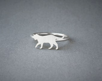 CAT SHORTHAIRED RING / Cat Shorthaired Ring / Silver Dog Ring / Dog Breed Ring / Silver, Gold Plated or Rose Plated.