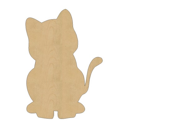Items Similar To Cat Cutout Shape Laser Cut Unfinished