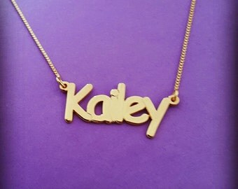Namenecklace Baby Name Necklace Gold Name Necklace Gold Dainty Name Necklace Kailey Name Necklace Baby Naming Gift New Mother Gift Baby