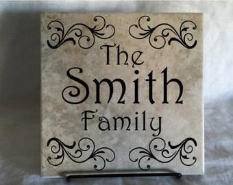 Customized Family Name Tile