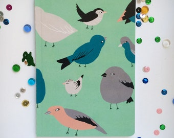 A6 Notebook: Birds, birds