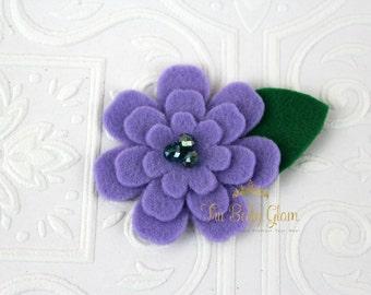 Purple Ariel Flower Headband or Hair Clip