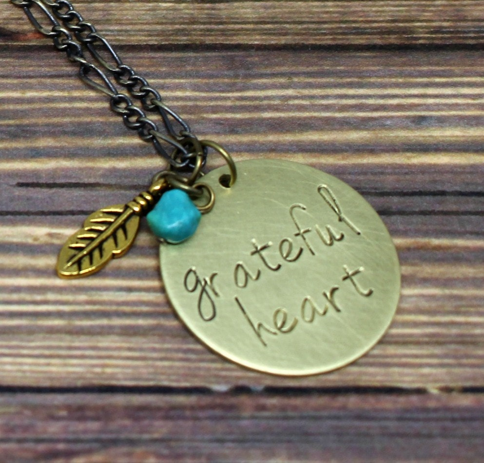 grateful necklace feather necklace jewelry with
