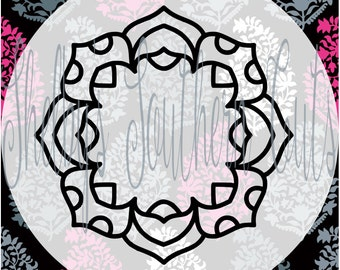 Simple Monogram Mandala SVG DXF EPS digital files