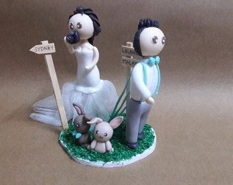 personalised wedding cake toppers sydney wedding cake topper wall e and clay figurine clay 18255