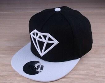 Kids/ infant Snapback Hat - Black/ Cap