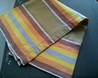 striped linen towel Vintage year 1970