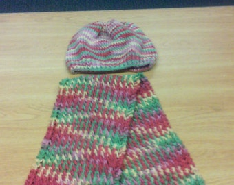 Pastel with Red Hat and Scarf