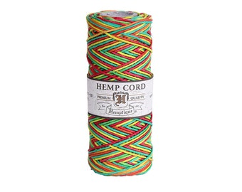 Rasta Variegated Hemp Cord Spool