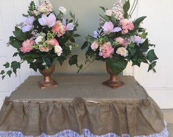 Wedding Altar Silk Flower Arrangements Floral Display Centerpiece