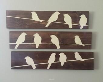 Birds on a Wire (3 Piece Set)